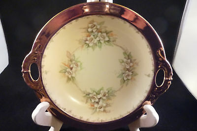 Haviland Limoges Hand Painted Collectors Bowl  Vintage