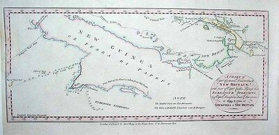 1784 Carteret Chart NEW GUINEA + Cook & Dampier Routes