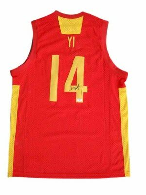 new style 73d89 53b78 Yi Jianlian Signed China Swingman NIKE Jersey JSA
