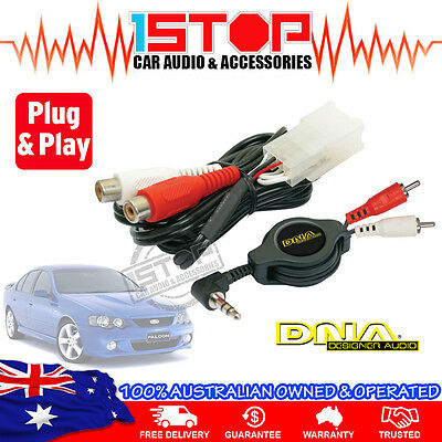 FORD FALCON BA-BF AUXILIARY ADAPTOR AUX iPOD iPHONE iPAD GALAXY MP3 PLUG & PLAY!