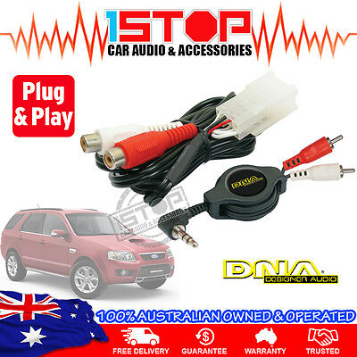 FORD TERRITORY SX-SY AUXILIARY ADAPTOR AUX iPOD iPHONE iPAD GALAXY MP3 PLUG&PLAY