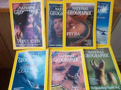 1998 National Geographic Collection Of 7 Magazines!