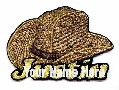 Iron-on Cowboy Hat Patch With Name Personalized Free