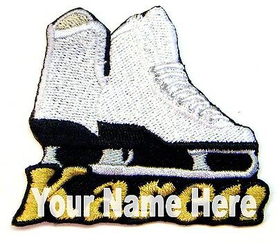 Iron-on Ice Skate Patch With Name Personalized Free
