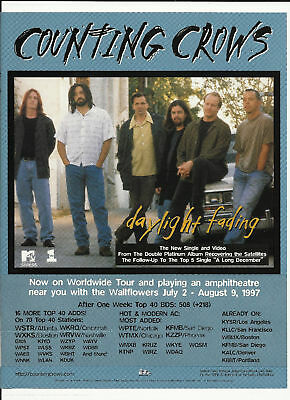 COUNTING CROWS Daylight Fading Trade Ad POSTER for  CD