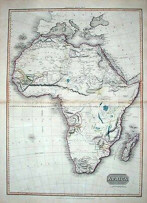 1814 Pinkerton Grand Map AFRICA Unique Supplements!