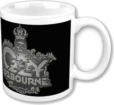 Ozzy Osbourne Black Skull Logo Boxed Presentation Coffee Mug Official Fan Gift