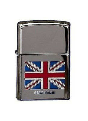 Zippo Great Britain Flag Lighter Engraved Free