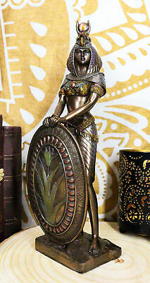 "11""H Egyptian Large Goddess Isis Deity Bronzelike Statue Figurine Motherhood"