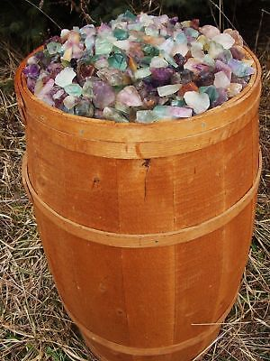 1000 Carat Lots of Unsearched Natural Fluorite Rough + a Nice FREE faceted Gems