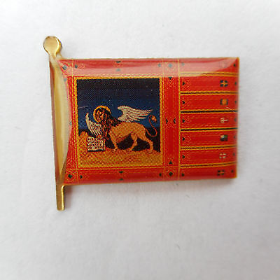 Venedig ,Flag,Label Pin,Badge,Venezia,Venetien,Flagge
