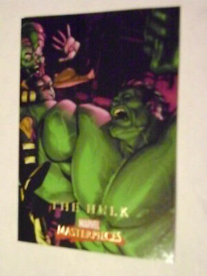 MARVEL MASTERPIECES SET 2 CARD #34 THE HULK