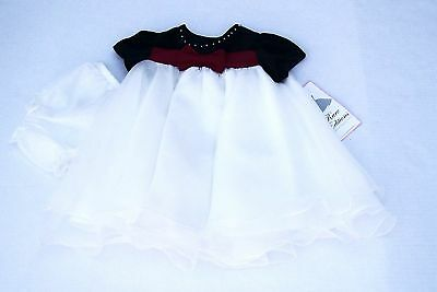 new NWT RARE EDITIONS girls Dressy Organza /& Velour Dress w// Panty sz 18 /& 24 mo