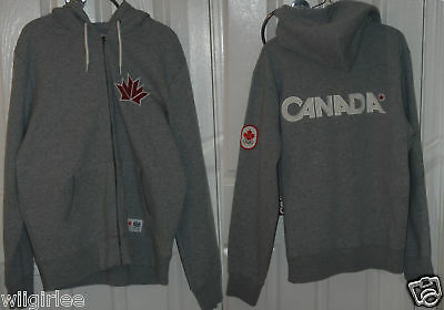 New 2010 Hbc Olympic Team Canada Hoodie Gray Mens Xl
