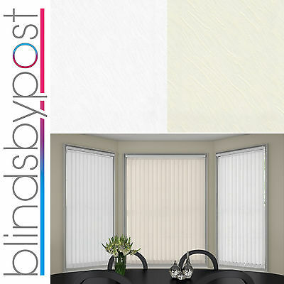 """Replacement Vertical Blind Slat 89mm (3.5"""") OPUS Cream or White"""