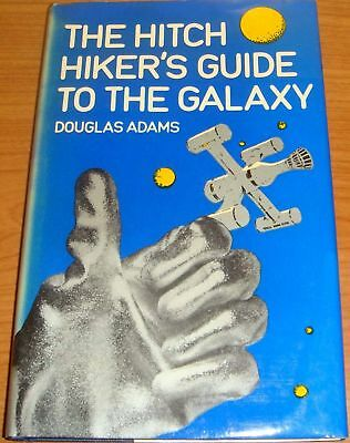 THE HITCH HIKER'S GUIDE TO THE GALAXY by DOUGLAS ADAMS HB D/W BARKER 1979 1st Ed