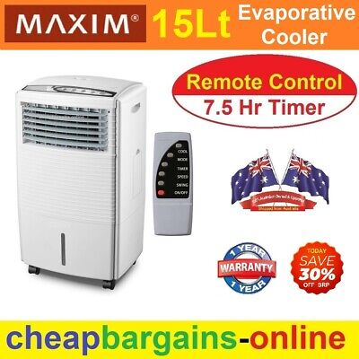 Heller Portable Evaporative Air Cooler Ice Cooling Fan Humidifier Remote Control