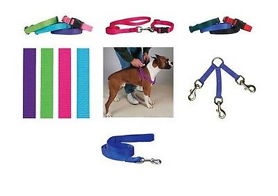 Coordinating Nylon Dog Collars Leads & Harnesses for Dogs Choose Sizes & Colors