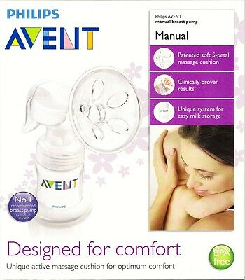 "Avent Philips Manual Breast Pump"" Bpa Free"" Brand New"