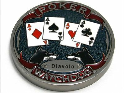 Poker Card Guard Watchdog Diavolo Metall massiv
