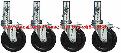 "4 Scaffold 5"" MFS Square Stem Caster Wheel aka Perry Baker Scaffold w / Lock pin"