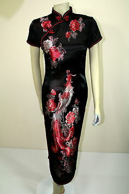 Asian Chinese Traditional  Woman long Silk Dress QiPao