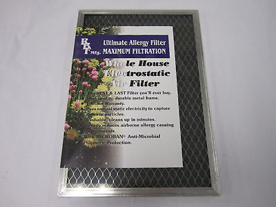 "Lifetime 1"" Electrostatic Washable Air Filter All Sizes"