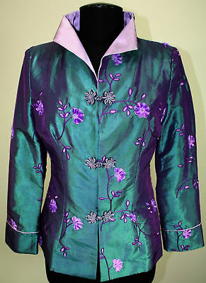 Asian chinese Silk  jacket US size 4 & 6