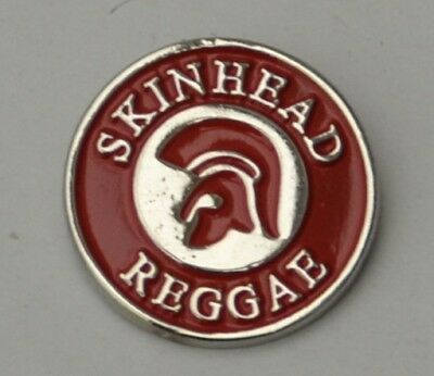 Red Skinhead Reggae Trojan Quality Enamel  Pin Badge
