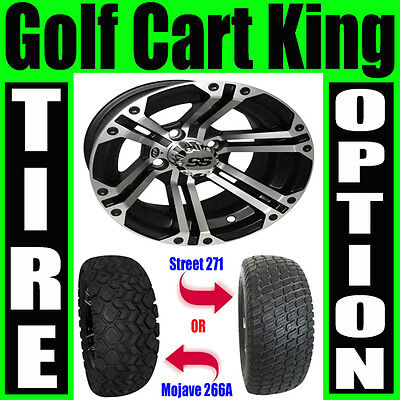"Lifted Golf Cart 12"" Wheel and 23"" Tire Combo Lift Kit"