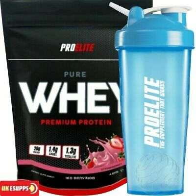 ProElite 100% Pure Whey Protein 80% Whey protein powder 2.25kg And 25g Sample