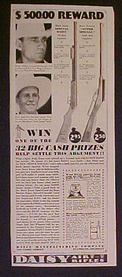 Daisy BB Toy Western Gun Air Rifle~1934~BARTON~JONES AD