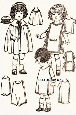 "Vintage Doll Clothes Pattern ~ 3644A-18"" - Antique Doll"