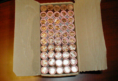 2009-2010 P & D 50 Rolls Penny Cent Box Set LP1-5 OBW Free Priority Shipping