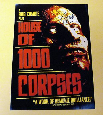 "House Of 1000 Corpses Pp Signed 12X8"" Poster Rob Zombie"