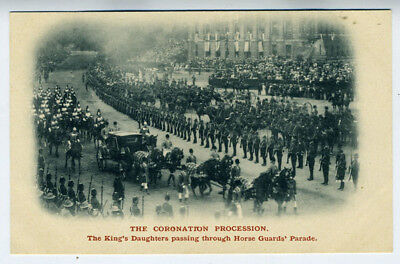 1905 Postcard Coronation Procession Kings Daughters