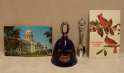 Vintage Kentucky Souvenir Spoon 2 Postcards & Bell