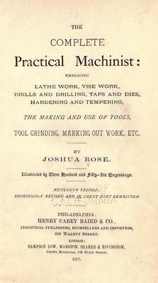 The Complete Practical Machinist by Joshua Rose – Book on CD, Lathe Work
