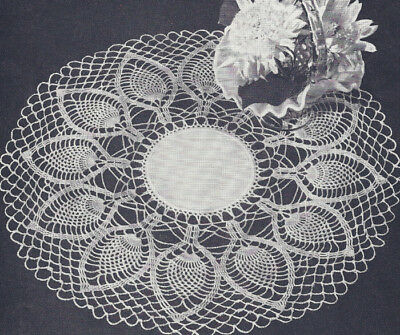 VINTAGE CROCHET PATTERN to make Pineapple Doily Palm Leaves - $7.99 ...