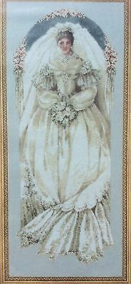 """White Lace"" Wedding Lavender & Lace Cross Stitch Chart"