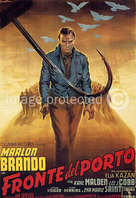 On The Waterfront Vintage Italian Movie Poster -24x36