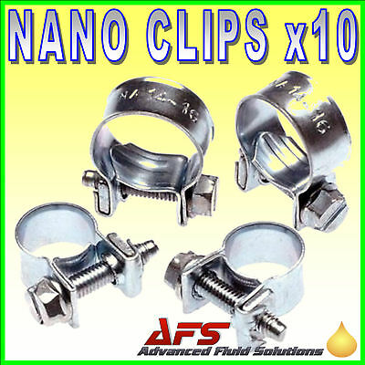 Mini NANO® Fueline Hose Clips Petrol Pipe Tubing Clamp Diesel Air Water Gas ROW