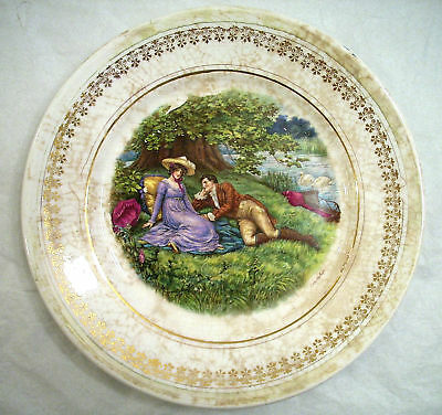 W.s.g.p.c. Ws.george Pottery Co. Dinner Plate Courtship