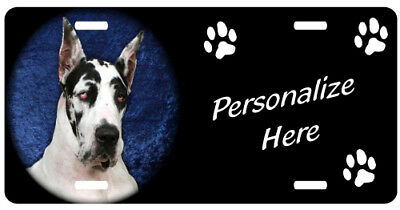 Great Dane, harlequin   Personalized Pet License Plate