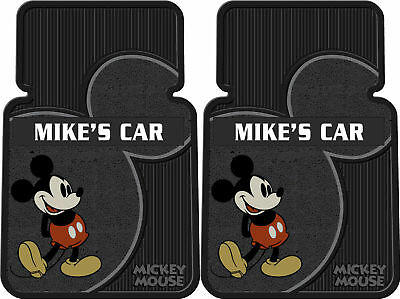 2Pc Vintage Mickey Personalized Car Floor Mats Rare New
