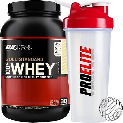 Optimum Nutrition 100% Gold Standard Whey Protein 2lb 908g Isolate Powder BCAA