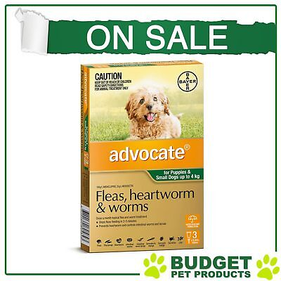 Advocate For Dogs Up To 4kg 3 pack