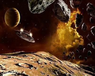 Space Planet Art Poster Print New