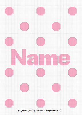 Crochet Patterns - POLKA DOTS Baby Girl Afghan Pattern PERSONALIZED