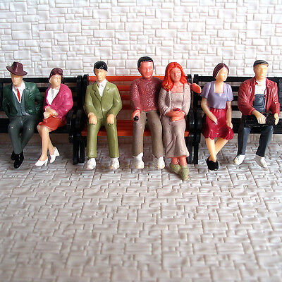 35 pcs G Scale 1:32 Painted Figures all seated People